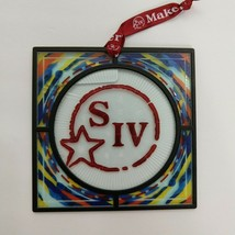 Maker's Mark Ambassador Christmas Ornament Faux Stained Glass Bourbon Wh... - $9.90