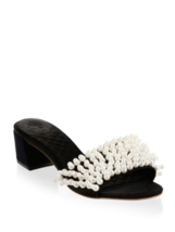 Tory Burch Tatiana Slides Black Sandals Size 6.5 - $247.50