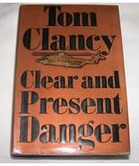 Transparent Et Present Danger Par Tom Clancy 1989, Couverture Rigide U.S.A - $15.80