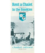 Vintage Travel Brochure Chalet Village Gatlinburg Tennessee 1960's Smokies - $9.89