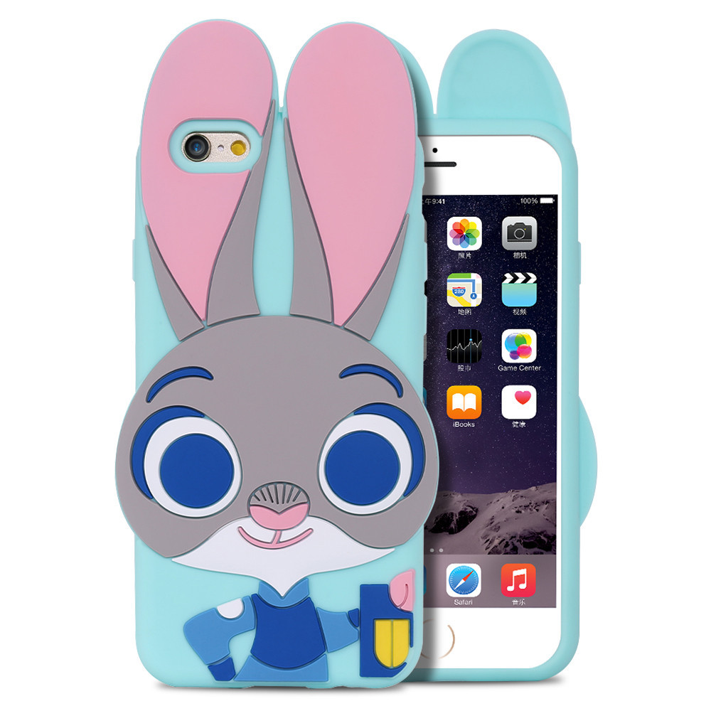 Primary image for ZOOTOPIA Rabbit TPU Gel n Case Samsung Galaxy S5 S6 S7 Cute Phone iPhone 6 6s/Pl