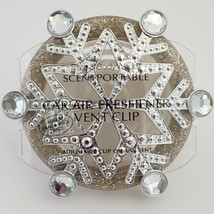 Silver Gold Snowflake Scentportable Vent Clip No Disc Retired Bath Body Works - $14.95