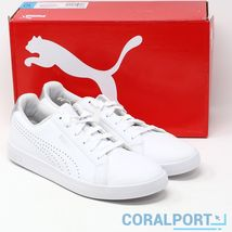 New Puma Womens Smash Perf Met White Leather Sneaker Various Sizes Free ... - $29.00+