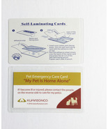 Pet Emergency Cards with Laminating Pouches CatDog (Pack of 2) - $6.50