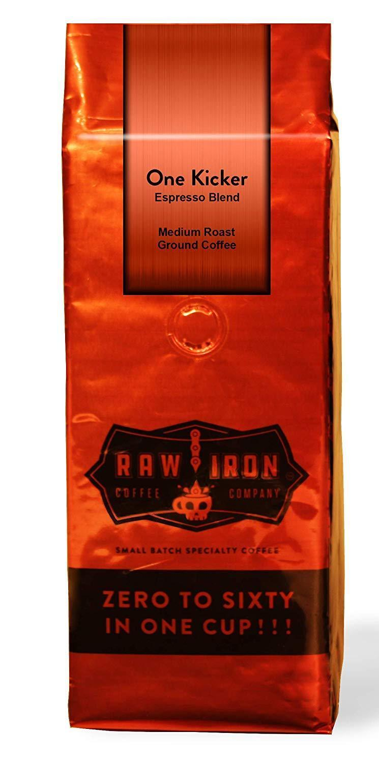 Extra Strong Gourmet High Caffeine Coffee One Kicker By Raw Iron Coffee Co.