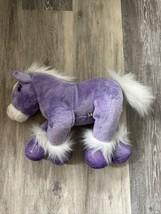 """Build A Bear Purple Sparkle Horse 12"""" Height Pony BAB - $7.99"""
