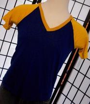 Vintage Empire Union Made NYC mens raglan v-neck shirt USA Medium M - $18.95