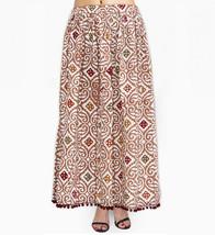 Cotton Indian Abstract Printed Long Skirt Boho Gypsy Long Skirt - $27.12