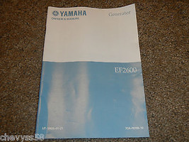 Yamaha EF2600 Ef 2600 Generator Owner Owners Owner's Manual - $18.22
