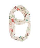 White Shauna Toucan Infinity Scarf - $10.00