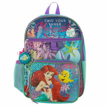 Little Mermaid 5-Piece Backpack Set Blue - $28.98