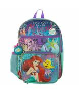 Little Mermaid 5-Piece Backpack Set Blue - $28.98