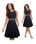 ITCQUALITY WOMEN VINTAGE PART DRESS ELEGANT FIT AND FLARE LADY TUNIC ITC... - $110.00