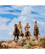 Sons of the Desert by Carl Borg American Cowboy Native American Western ... - $49.49
