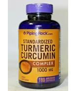 Piping Rock Standardized Turmeric Curcumin, 1000 Mg, 180 Quick Release C... - $29.69