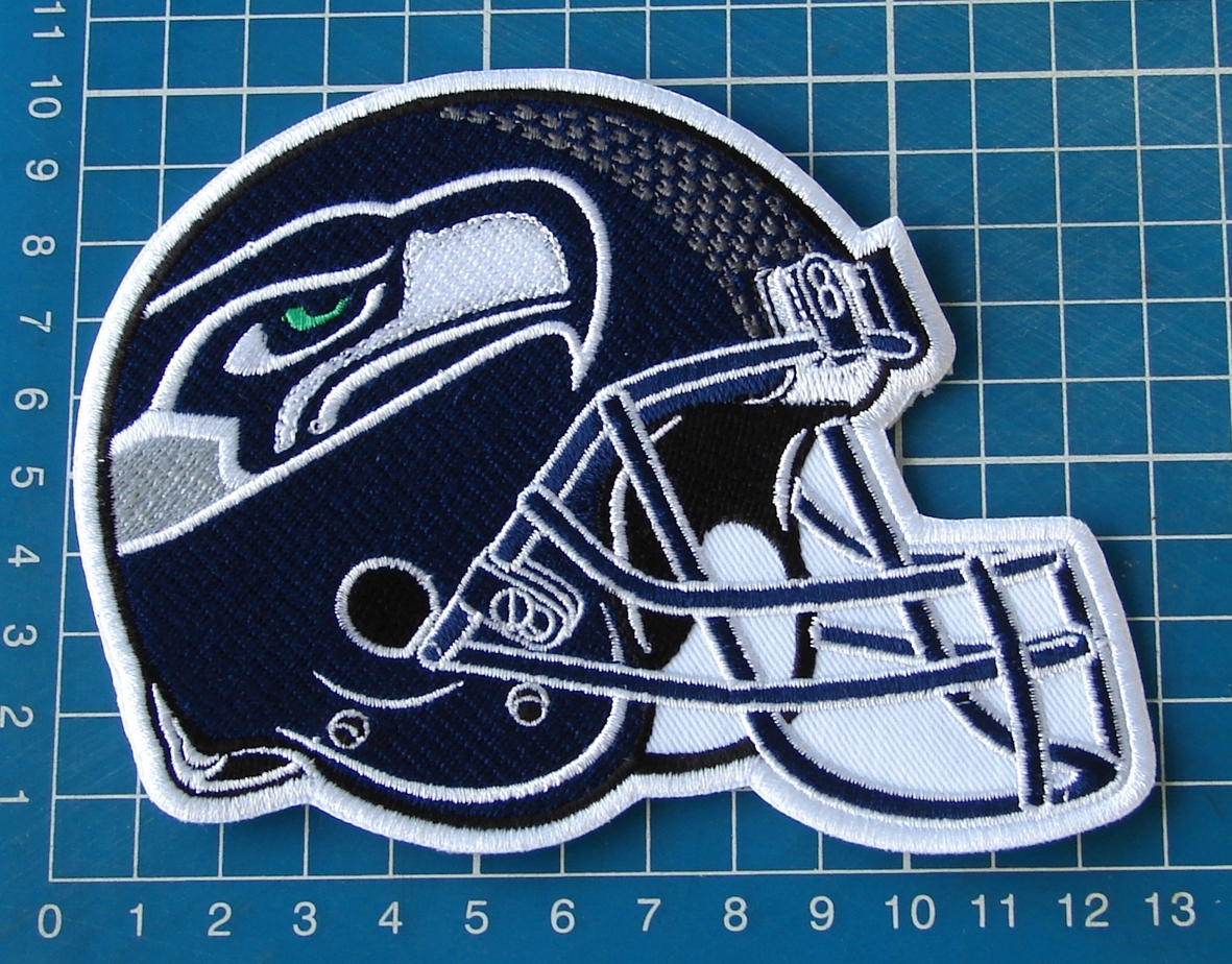 "Primary image for SEATTLE SEAHAWKS HELMET NFL FOOTBALL SUPERBOWL  5"" PATCH JERSEY SEW EMBROIDERED"