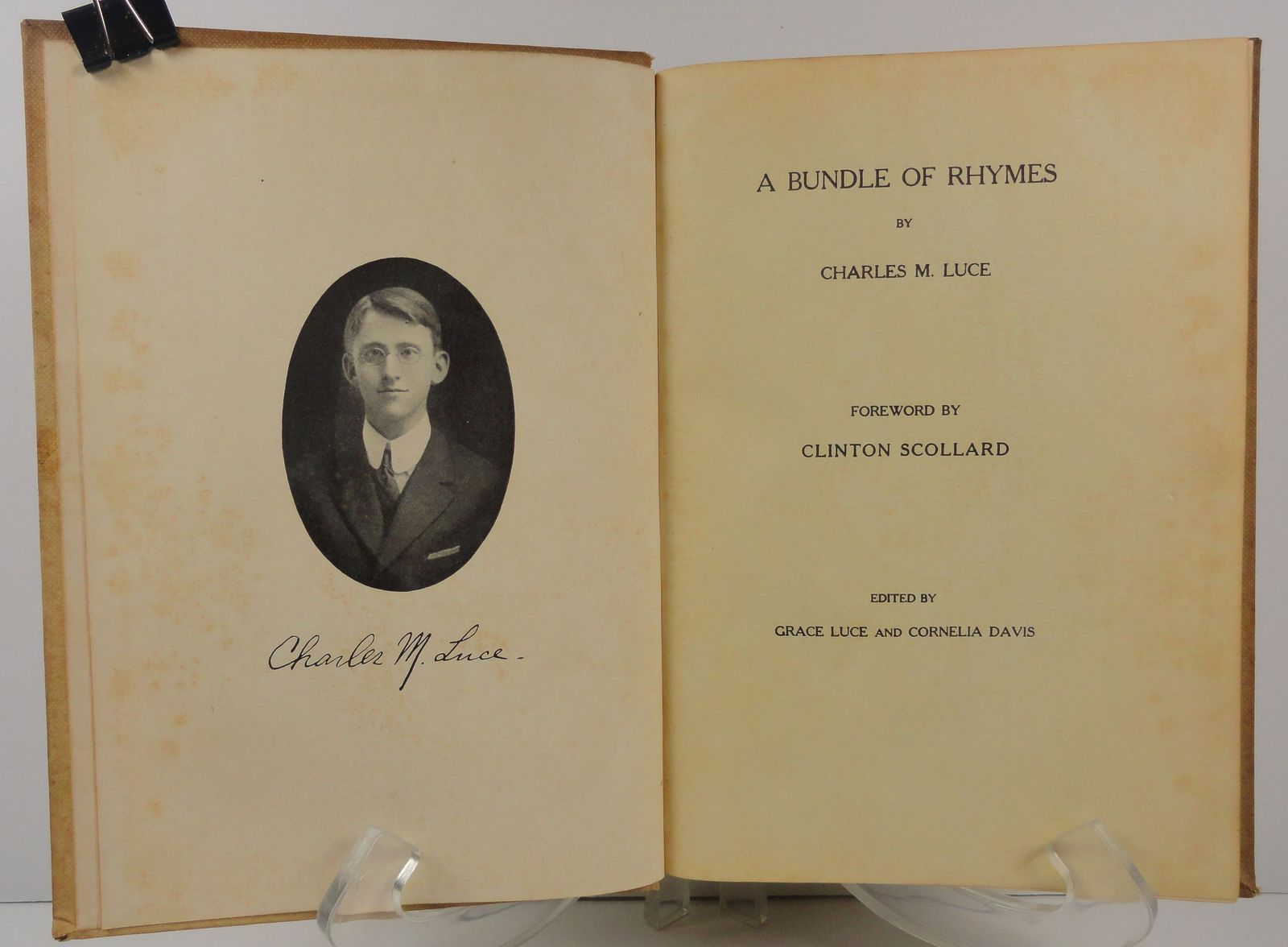 A Bundle of Rhymes by Charles M. Luce 1914