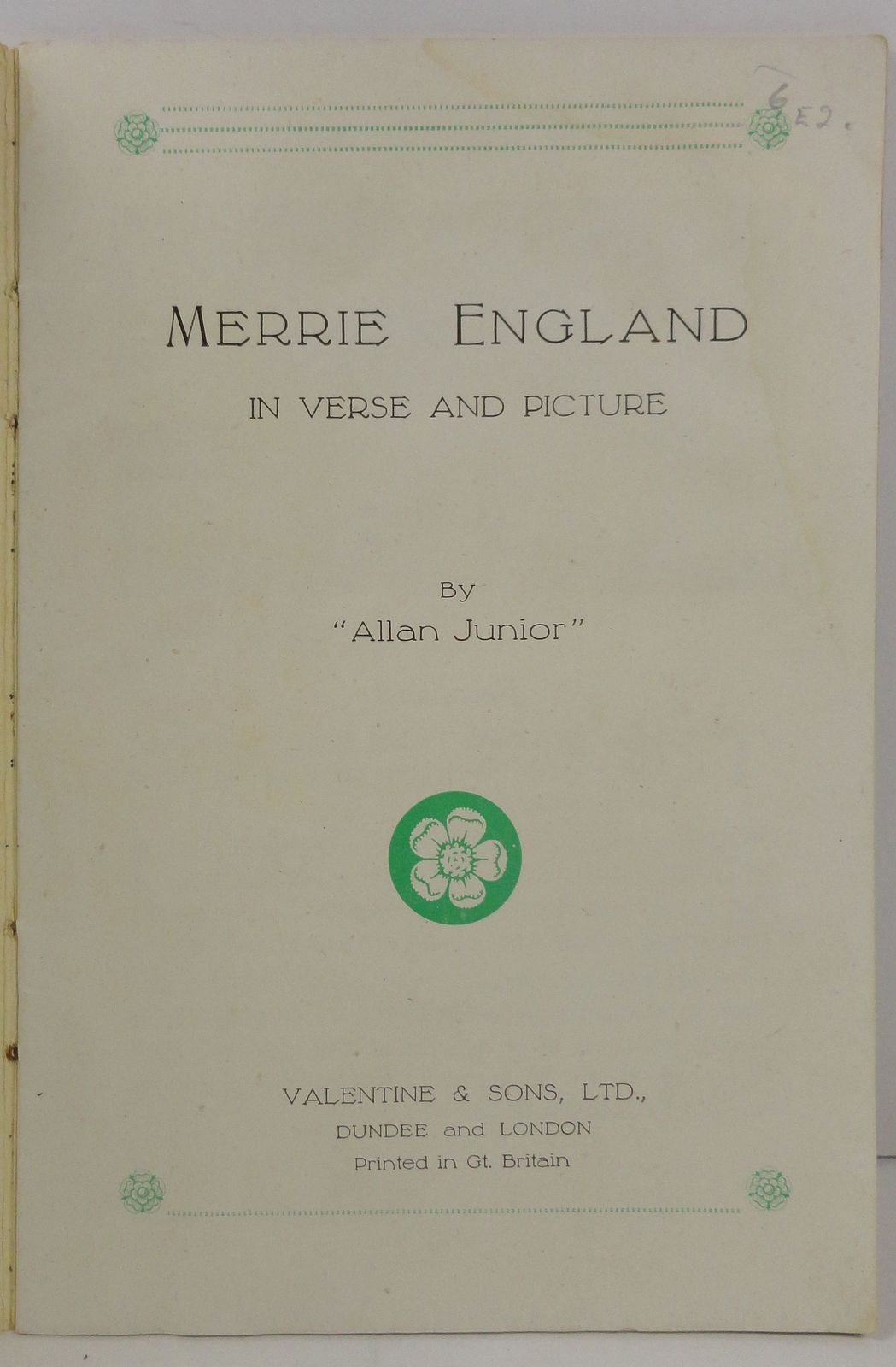 Merrie England in Verse and Picture by Allan Junior