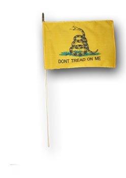 12x18 gadsden stick flag 7595