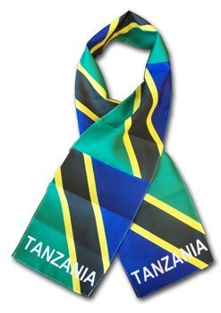 Tanzania flag scarf 10533