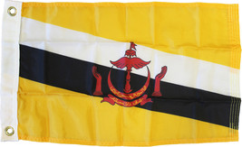 "Brunei - 12""X18"" Nylon Flag - $22.80"