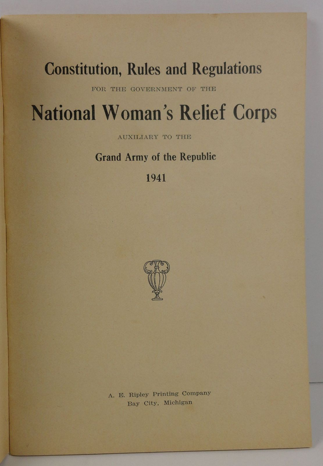 Constitution for the Government of National Woman's Relief Corps