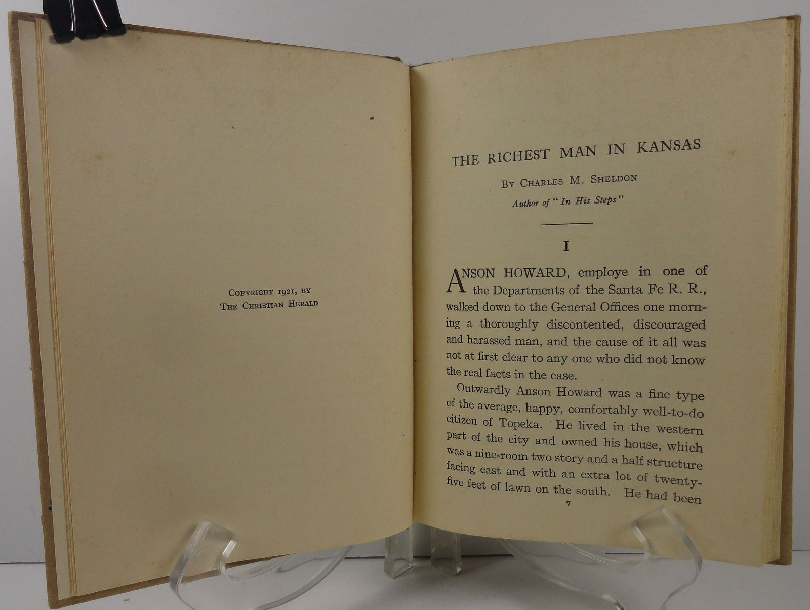 The Richest Man in Kansas by Charles M. Sheldon 1921