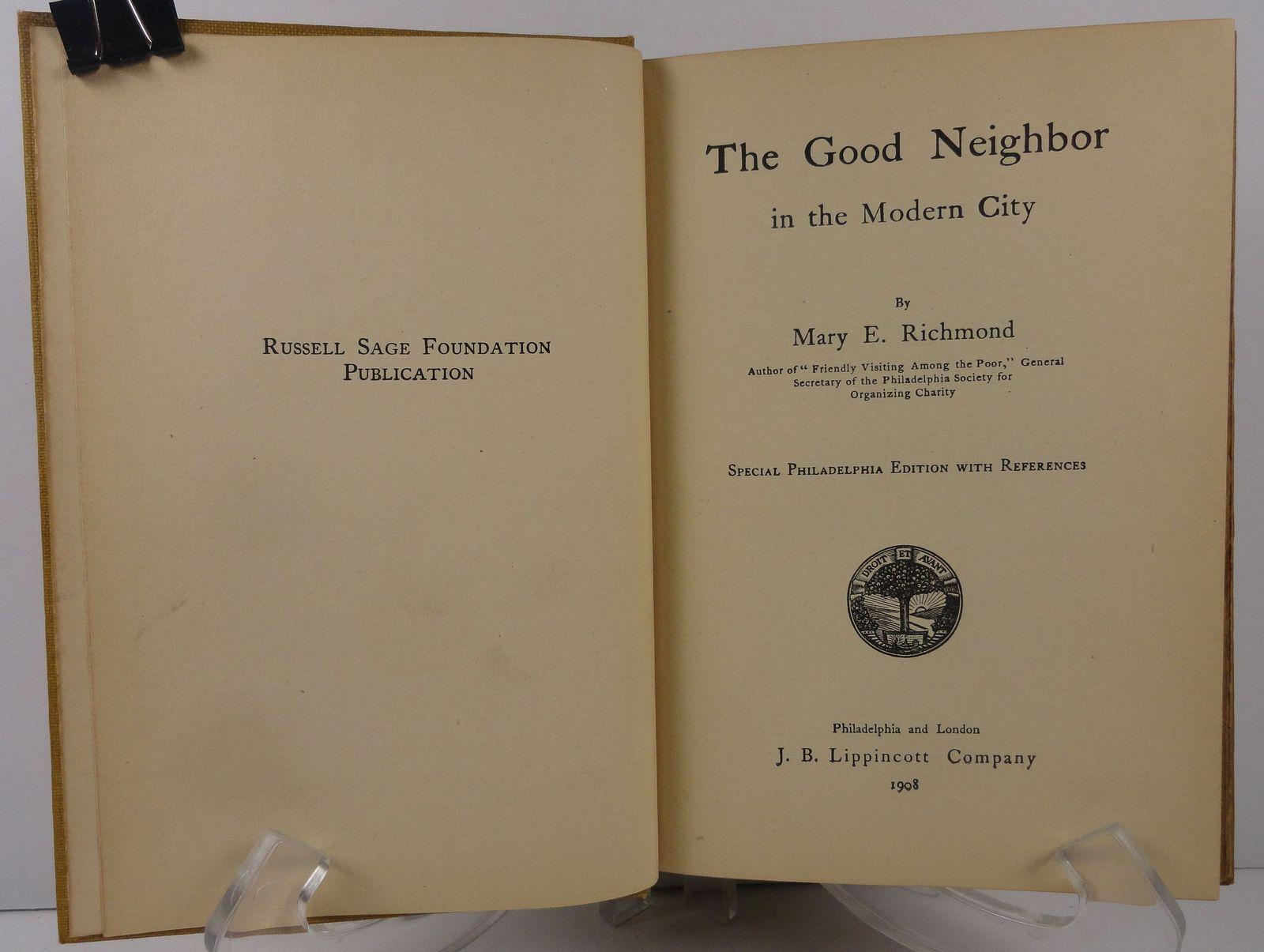 The Good Neighbor Mary E. Richmond 1908 Philadelphia Edition