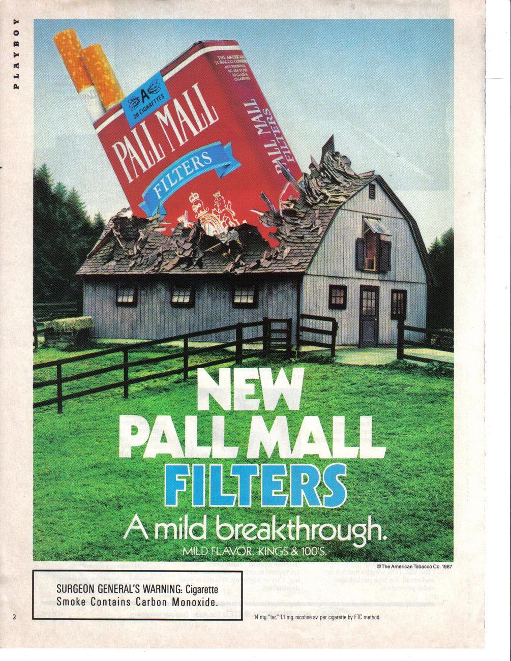 Primary image for Pall Mall 1987 Original Full Color Page Print Ad A Mild Breakthrough Near Mint