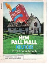 Pall Mall 1987 Original Full Color Page Print Ad A Mild Breakthrough Nea... - $3.49