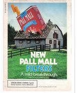 Pall Mall 1987 Original Full Color Page Print Ad A Mild Breakthrough Nea... - $3.49