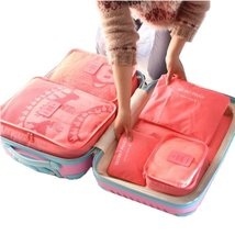 6Pc Candy Color Travel Packing Cube Organizer Bags - £15.05 GBP