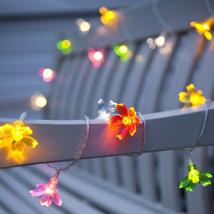 Multi color Battery Powered Flower String Lights - $14.99