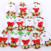 Santa Claus Pendant Christmas Ornaments-10 pcs/lot - $14.99