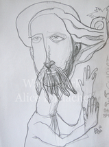 Jesus Christ Epiphany - Original Drawing by ACCI - $46,680.00
