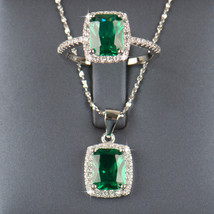 Sterling silver Natural Emerald Jewelry sets - $36.99