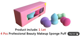 Pro Beauty Flawless Makeup Blender Foundation Puff Sponges (4 Pieces) - $12.99