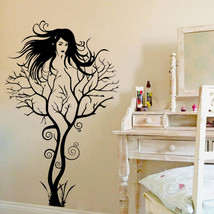 Sexy Girl Tree Wall Sticker - $10.99