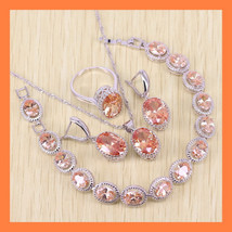Sparkling Orange Morganite Jewelry Set - $43.99