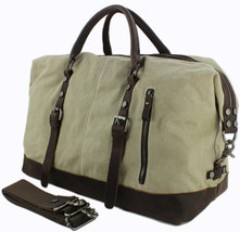 Vintage Military Leather Canvas Duffle Bag - $82.99+