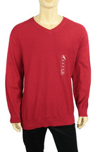 NEW CLUB ROOM BIG TALL V NECK DIAMOND KNIT PATTERN PULLOVER SWEATER 3XB $87 - £17.64 GBP