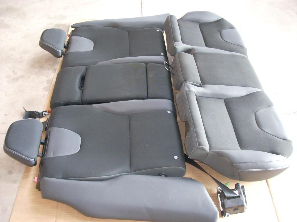 2012 VOLVO XC60 REAR BLACK LEATHER SEAT