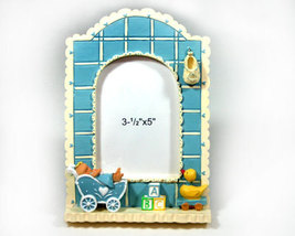 Baby Boy Photo Frame with Buggy, Blocks, and Duck 3.5x5 - $12.99