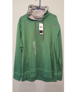 Adidas Performance Mens XL Ultimate Linear Logo Fleece Pullover Hoodie - Green - $29.95
