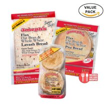 Combo Value Pack: Joseph's   Flax   Oat Bran & Whole Wheat Reduced Carb ... - $23.39