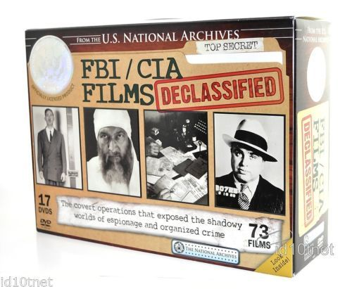 FBI CIA Government Films Declassified (DVD, 2010, 17-Disc Set) NEW
