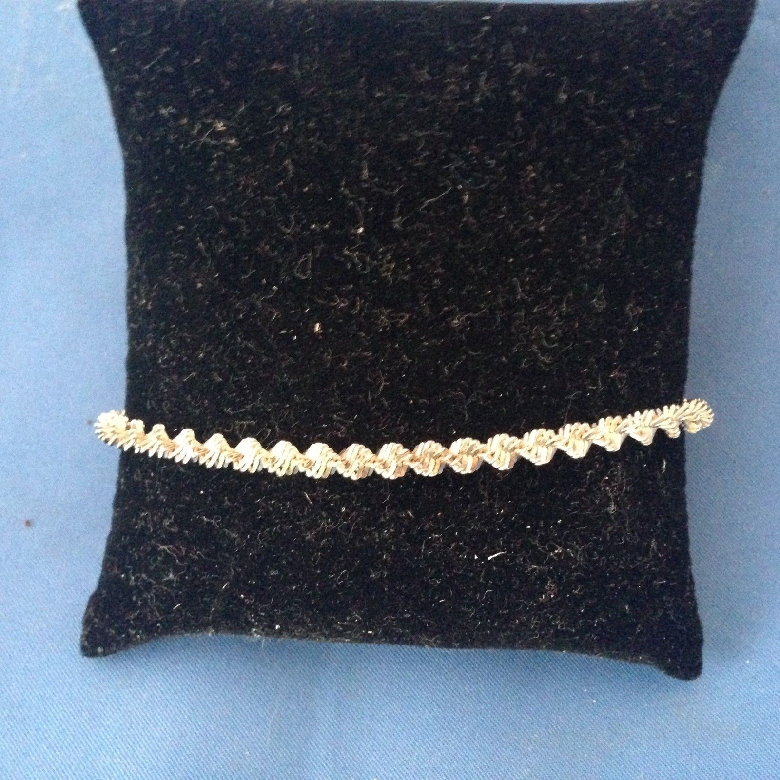 Sterling Silver Twisted chain Bracelet  .925 - $38.60