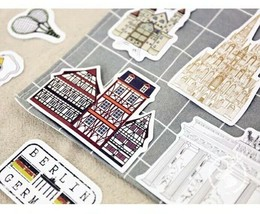 50pcs Luggage suitcase stickers German Travel Big Stickers ST298 - $3.92