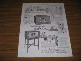 1949 Print Ad RCA Victor Televisions Onlooker & Sightseer TV Sets - $12.86