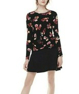 Thakoon Black Red Floral Front Knot Sweater - Women's Medium - $27.47